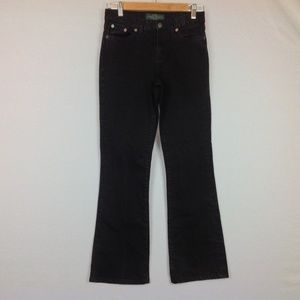 Ralph Lauren Jeans Womens 2P Petite Black Boot Cut